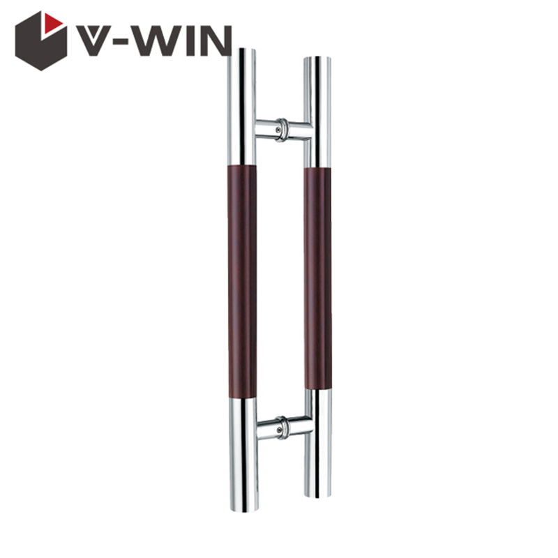 Double Side Glass Door Wooden Handle VW-DH-120B
