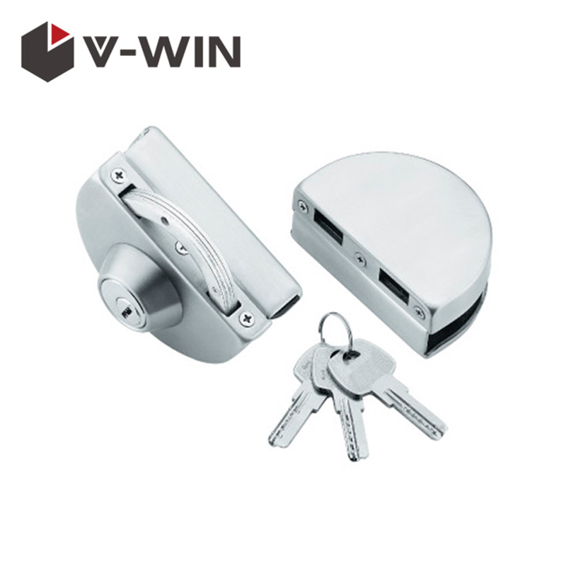 Double glass door locks for glass door hardware VW-GDL-228