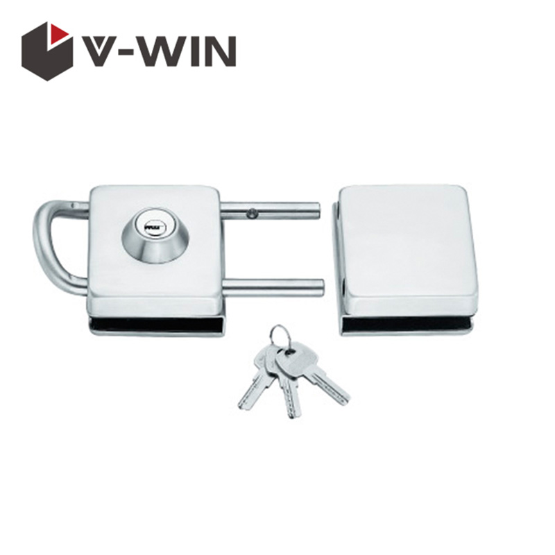 Stainless Steel Frameless Sliding Toughened Glass Door Lock VW-GDL-728