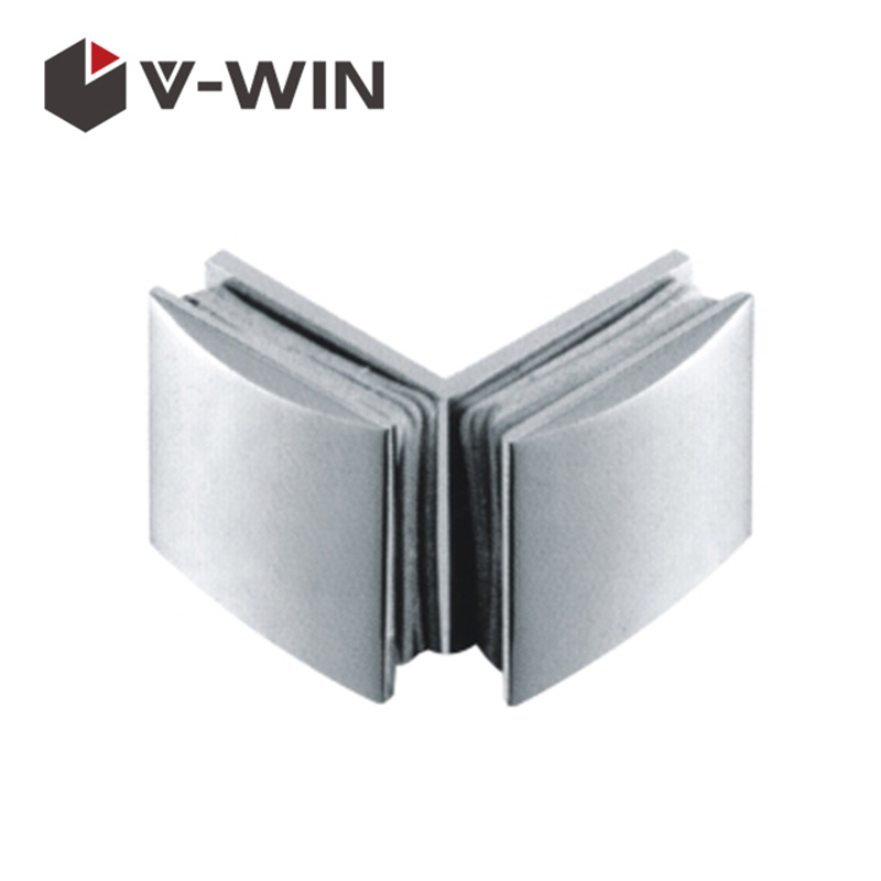 Good Quality 90 Degree Zinc Alloy Curved Glass Clip For Frameless Shower Door VW-ZAGC-1102