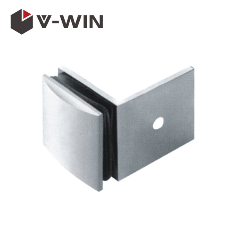 Good Quality 90 Degree Stainless Steel Glass Door Fittings VW-ZAGF-1103