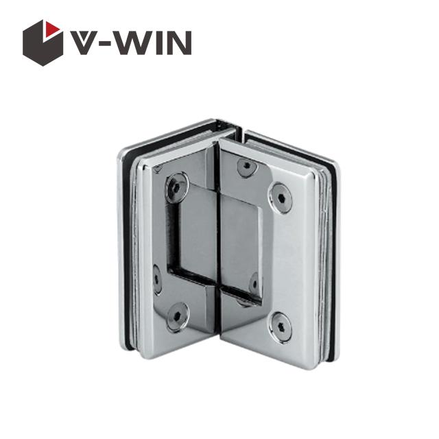 90 degree glass door hinge for shower