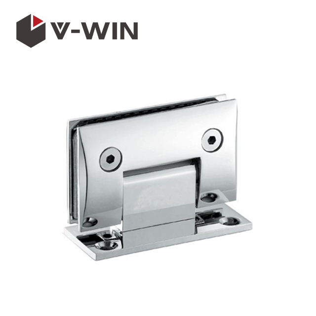 Curved shape glass door clamp for hotel