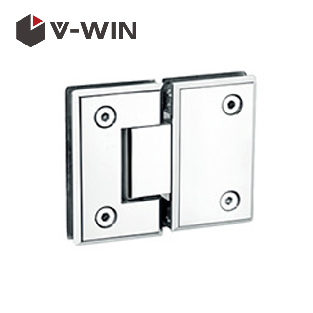 Shower door hinge glass to glass