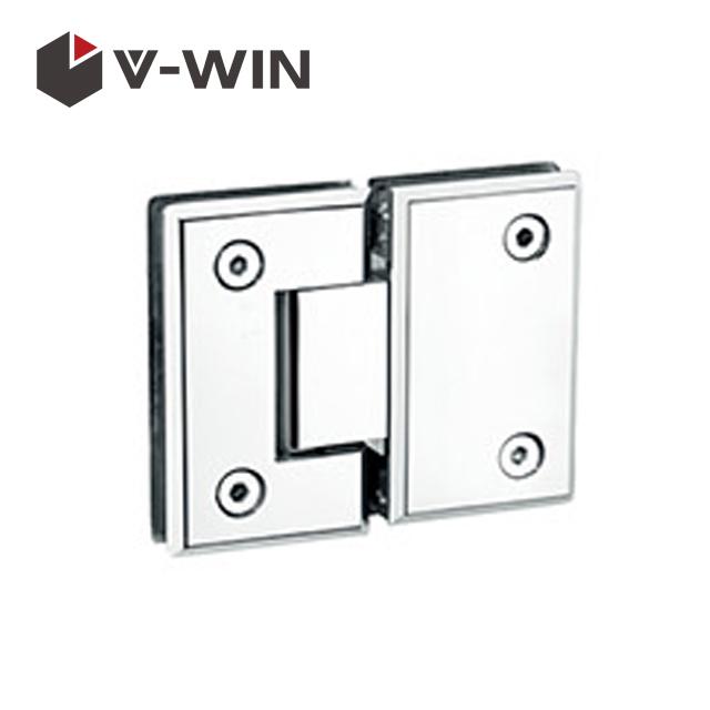 Shower door hinge glass to glass